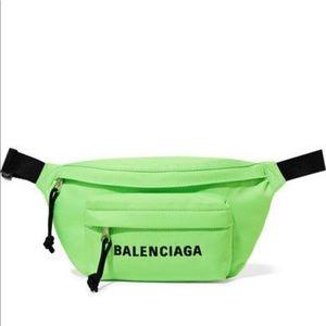 Balenciaga Wheel neon embroidered canvas belt bag